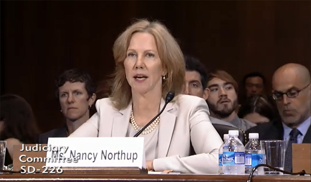 Nancy Northup testifies before Senate Judiciary Committee.